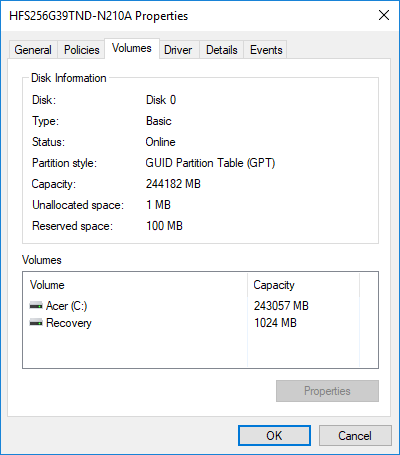 Check Partition style for this disk is GPT or MBR
