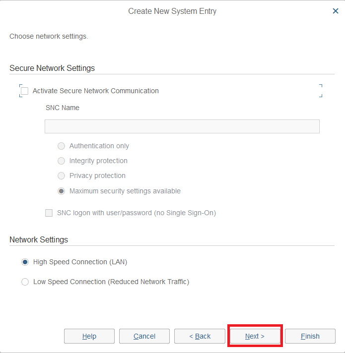 Do not change any predefined settings and Click Next