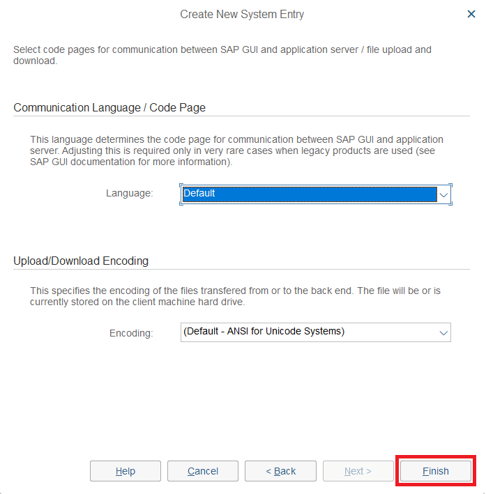 Don't change any communication settings between SAP GUI and Application Server