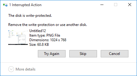 Fix The disk is write protected error in Windows 10