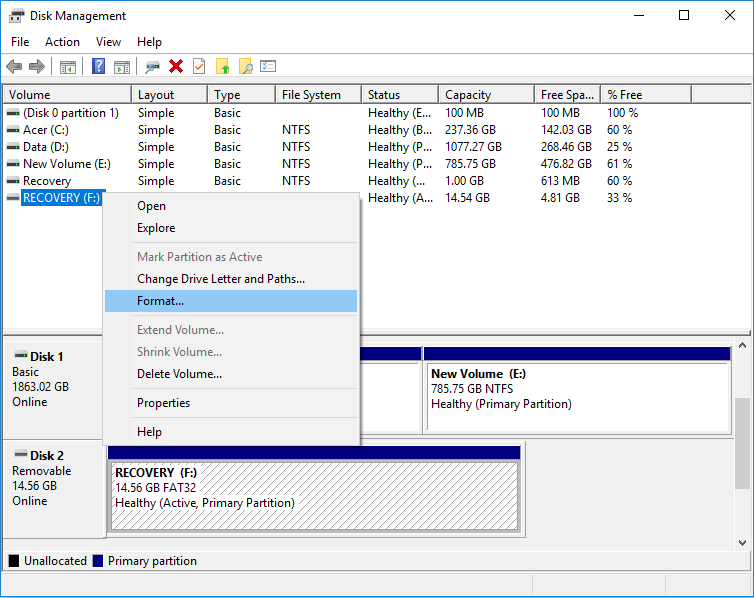 Format Disk or Drive in Disk Management | How to Format a Disk or Drive in Windows 10