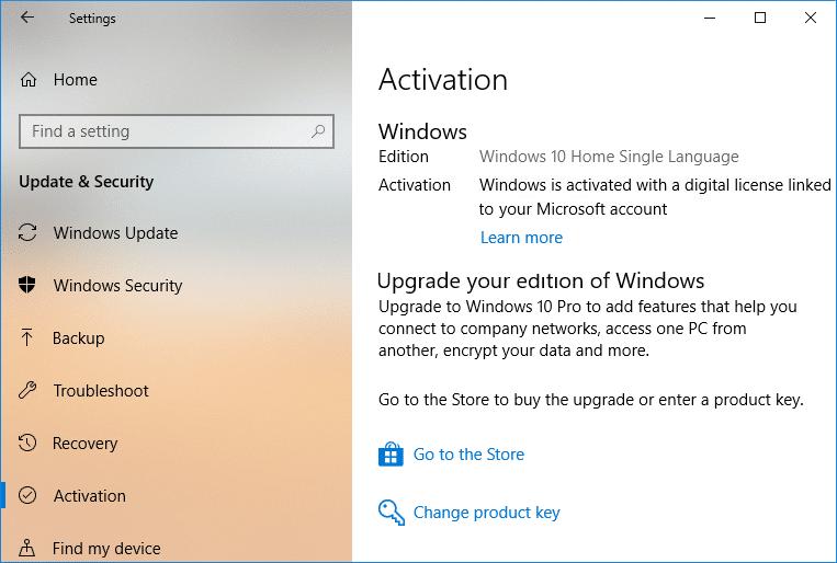 Link Microsoft Account to Windows 10 Digital License