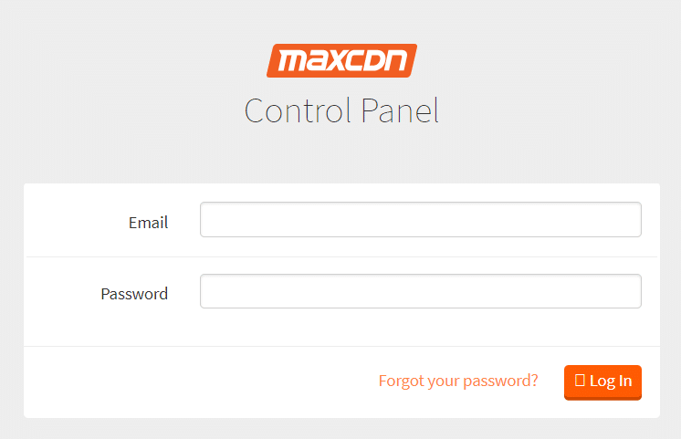 Open your favorite browser and navigate MaxCDN login