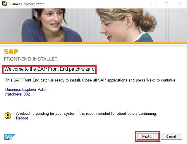 SAP GUI PATCH Installation
