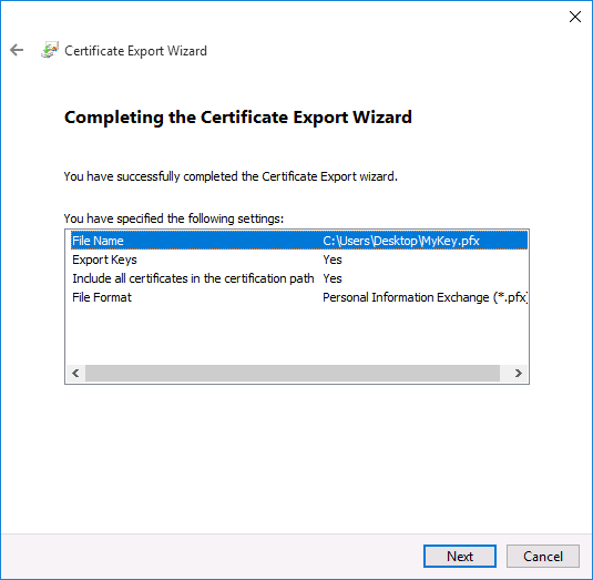 Back Up Your EFS Certificate and Key in Windows 10