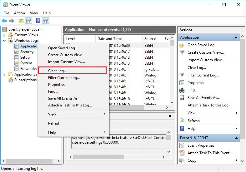 How to Clear All Event Logs in Event Viewer in Windows 10