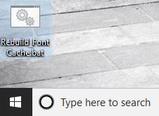 Double-click on Rebuild_FontCache.bat to run it