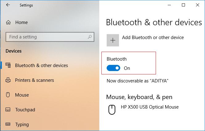 Fix Bluetooth can't turn off on Windows 10