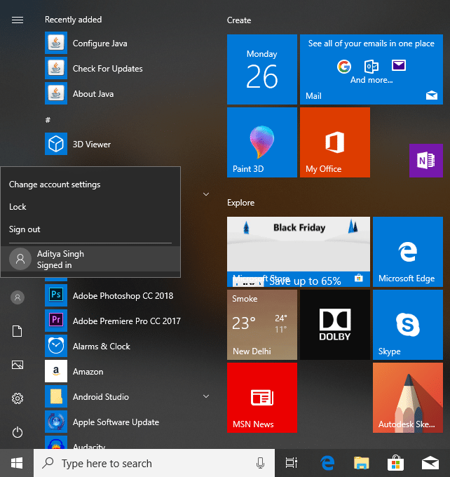 How to Switch User from the Start Menu | 6 Ways to Switch User in Windows 10