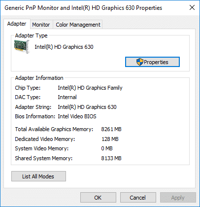 Check Your Graphics Card in Windows 10 Settings