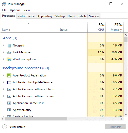 Check if the system is no longer using 100% of the disk usage
