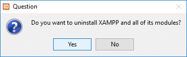 Click Yes to confirm your action & uninstall that particular program