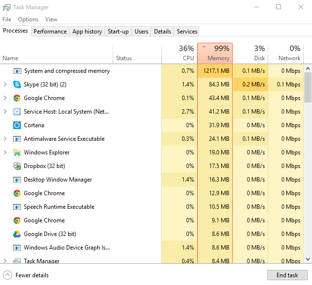Fix 100% Disk Usage In Task Manager In Windows 10