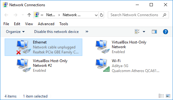 Fix Ethernet Not Working in Windows 10 [SOLVED]