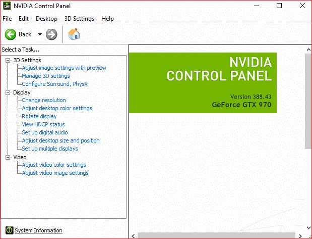 Fix NVIDIA Control Panel Missing in Windows 10