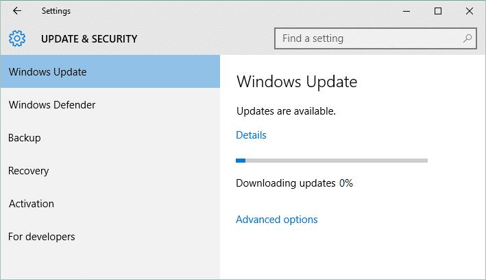 Fix Windows Update Stuck at 0% [SOLVED]