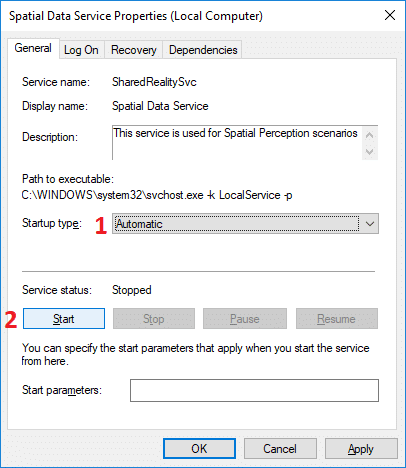 For NVIDIA Telemetry service select Automatic from the Startup type drop-down then click Start