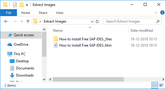 Navigate to the location you save the above webpage