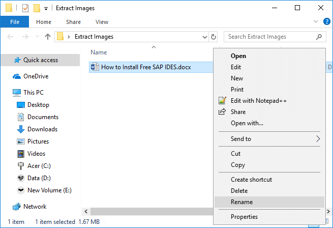 Right-click on this .docx file and select Rename