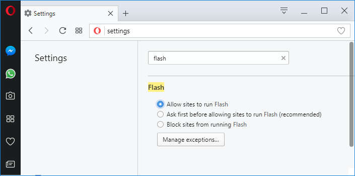 Enable Adobe Flash Player on Opera | Enable Adobe Flash Player on Chrome, Firefox, and Edge