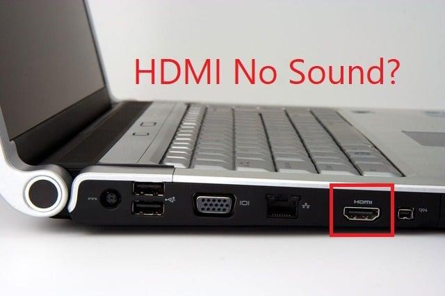 Fix HDMI No Sound in Windows 10