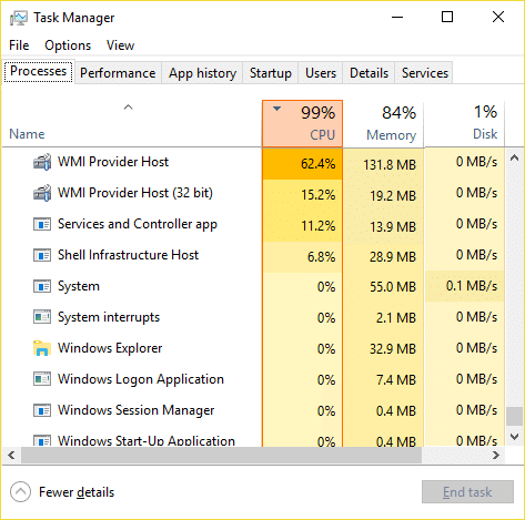 Fix WMI Provider Host High CPU Usage on Windows 10