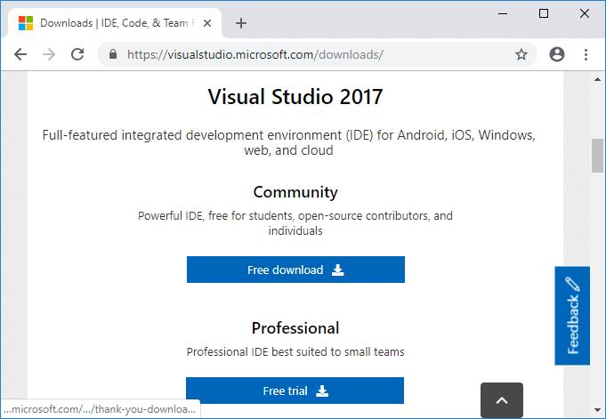 Install Microsoft Visual C++ Redistributable for Visual Studio 2017