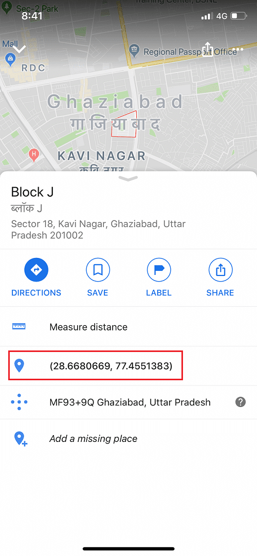 How to get Co-ordinate in Google maps in iPhone