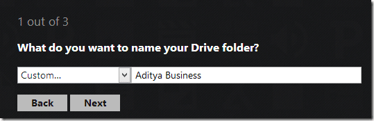 Name the folder with which you want it to appear on your desktop