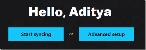 Select 'Advanced Setup' for a better experience