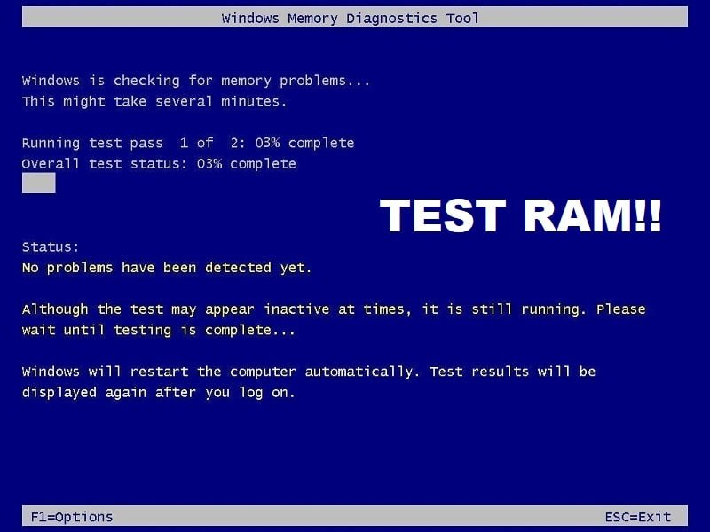 Test your Computer's RAM for Bad Memory
