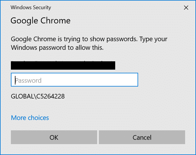 To view the saved password in chrome enter your system or login password