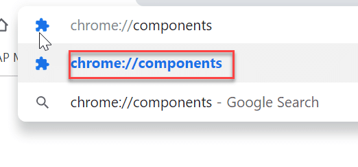 Type chrome://components in the address bar of Chrome