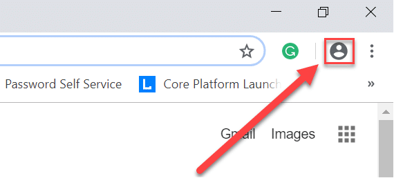 You will see the current user icon at the top right corner of the screen on Chrome