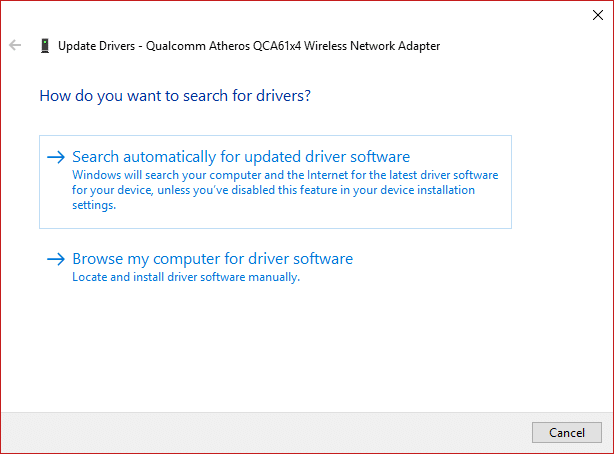 Choose Search automatically for updated driver software.Choose Search automatically for updated driver software.