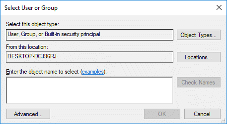 Click on Advanced option again | Fix You Need Permission To Perform This Action Error