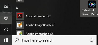 Click on Windows icon then click on Settings icon
