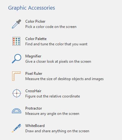 Features ofPicPick