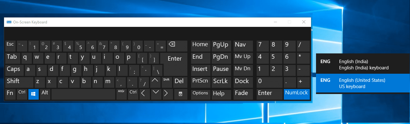 How to change Keyboard Layout in Windows 10
