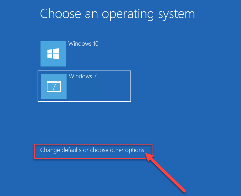 SelectChange defaults or choose other options from the bottom of the screen