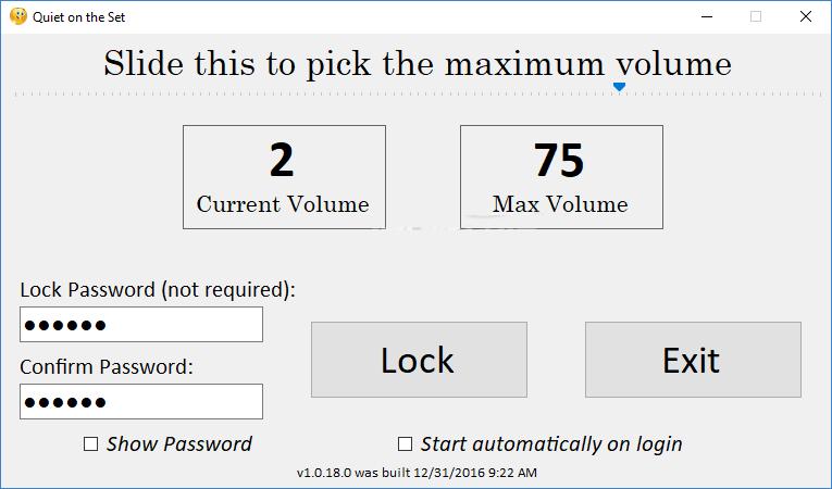 Use Quiet On The Set application toSet Maximum Volume Limit