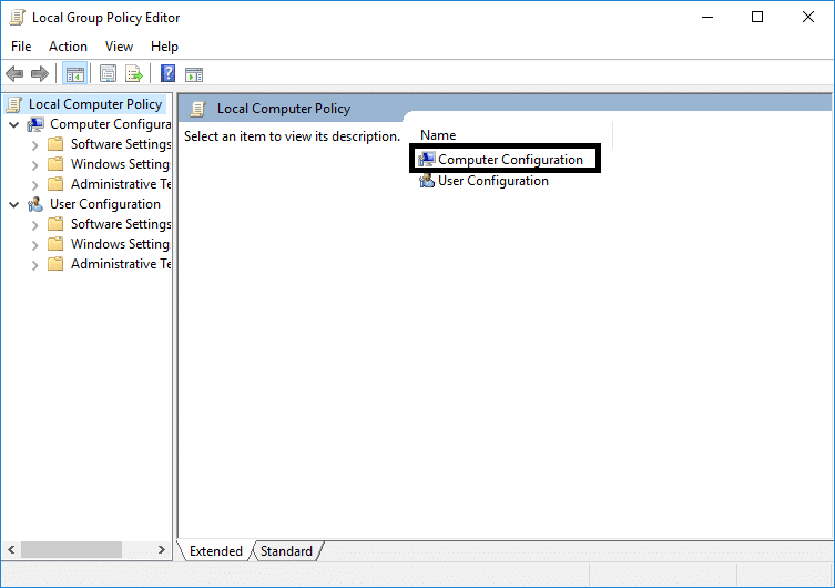 Click OK and open Local Group Policy Editor