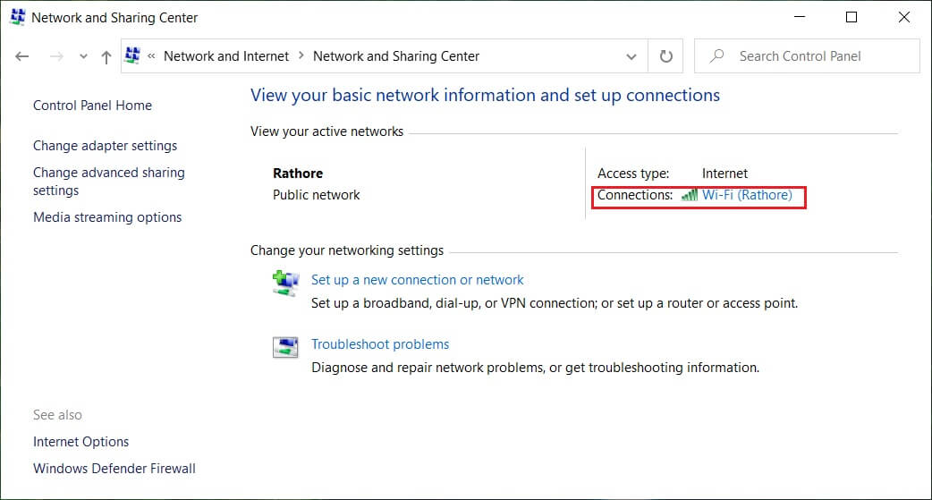 Click on the link (it will be your WiFi name) next to theConnections | How to Find My Router's IP Address?