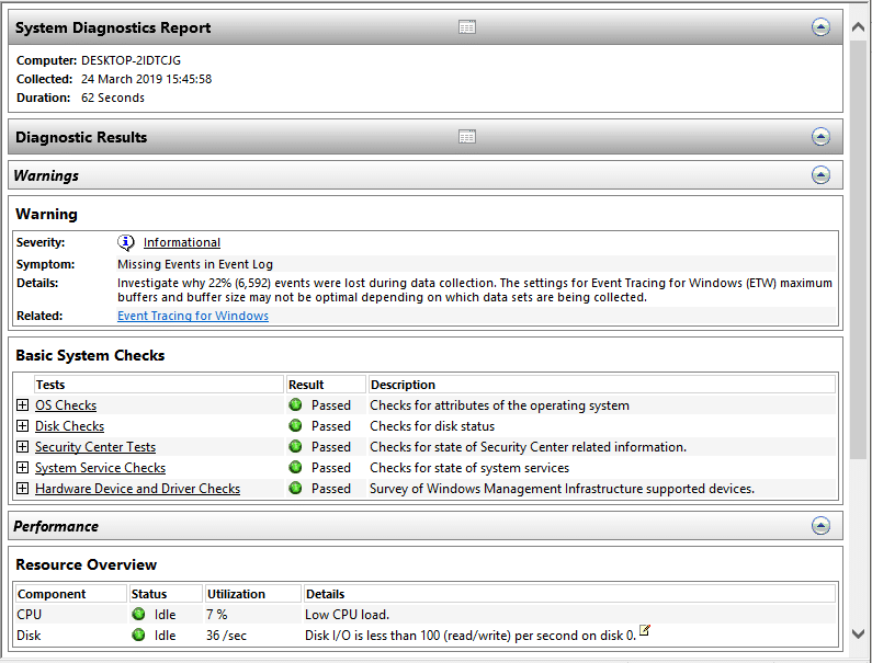How to Open a Custom Report in Performance Monitor