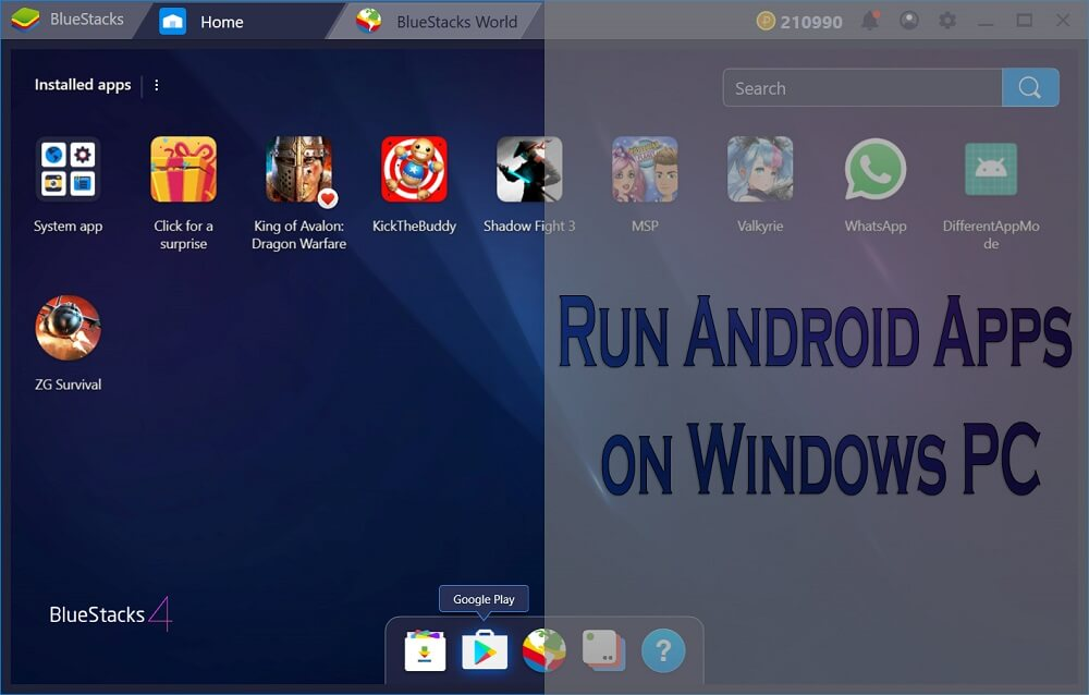 How to Run Android Apps on Windows PC