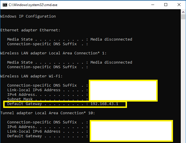 How to find the Router IP address on Windows 10 PC | Find My Router's IP Address?