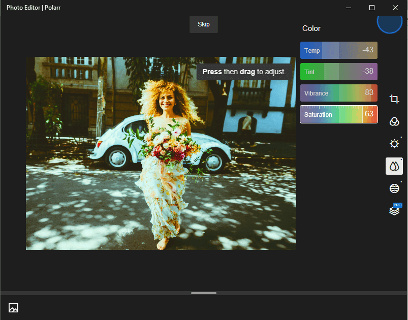Pixlr lets you control all light components of your image like brightness, exposure, shadows, etc