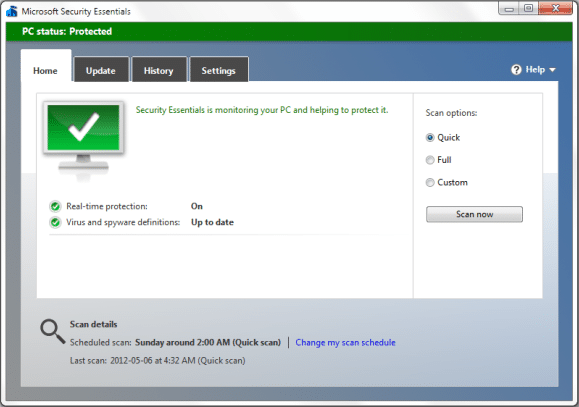 Scan for any Malware in your System