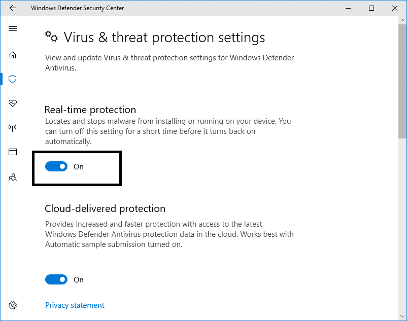 Turn off the Real-time protection to disable the Windows Defender | Permanently Disable Windows Defender in Windows 10