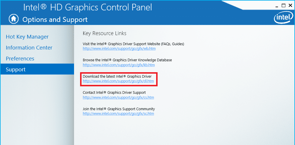 Update graphics drivers on Windows 10
